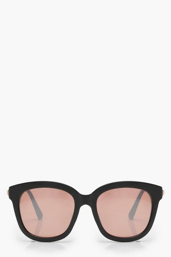 Womens Rose gold Matte Oversized Square Sunglasses