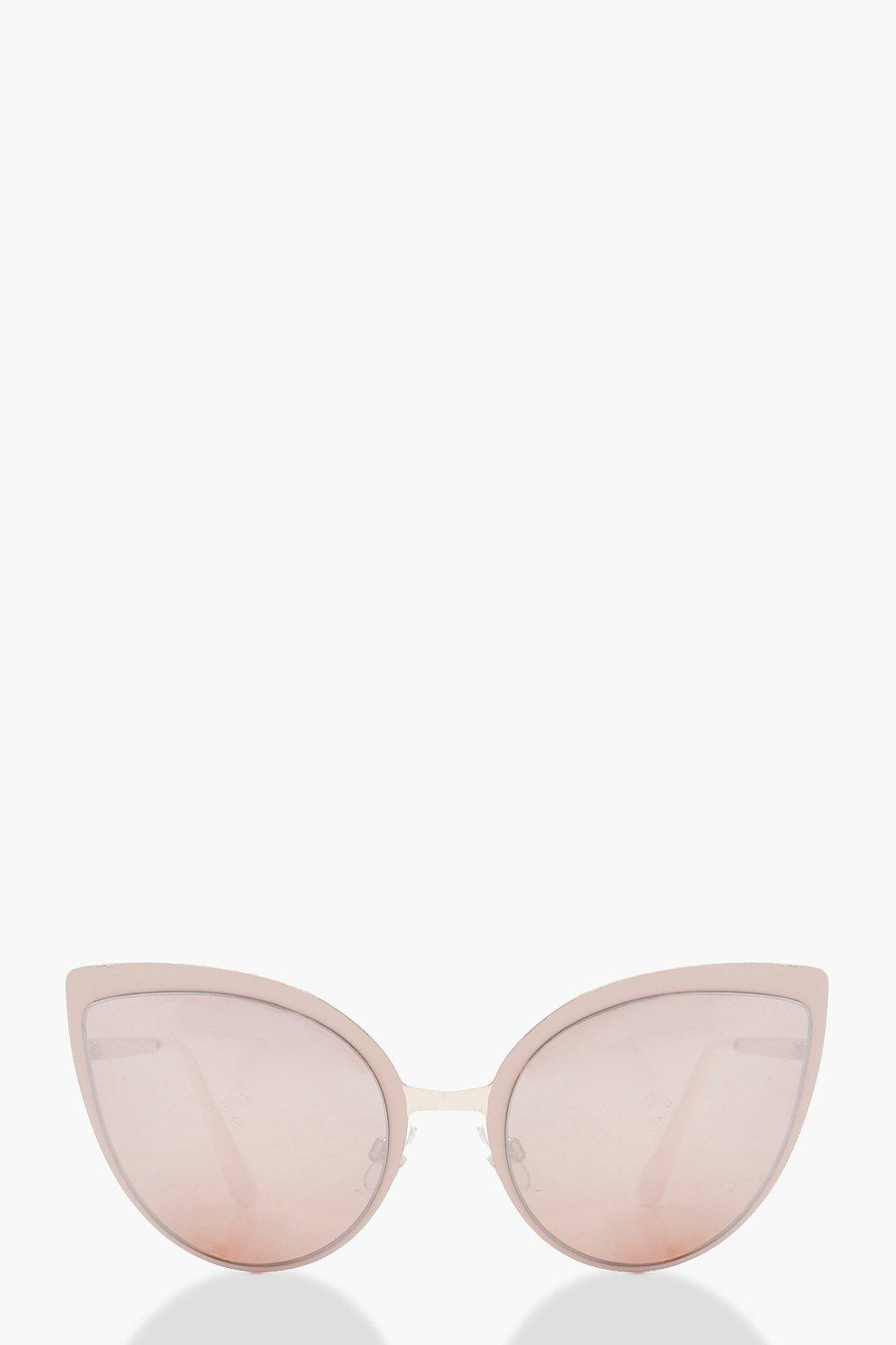 9d905f12b10 Oversize Cat Eye Pink Lens Sunglasses. Hover to zoom