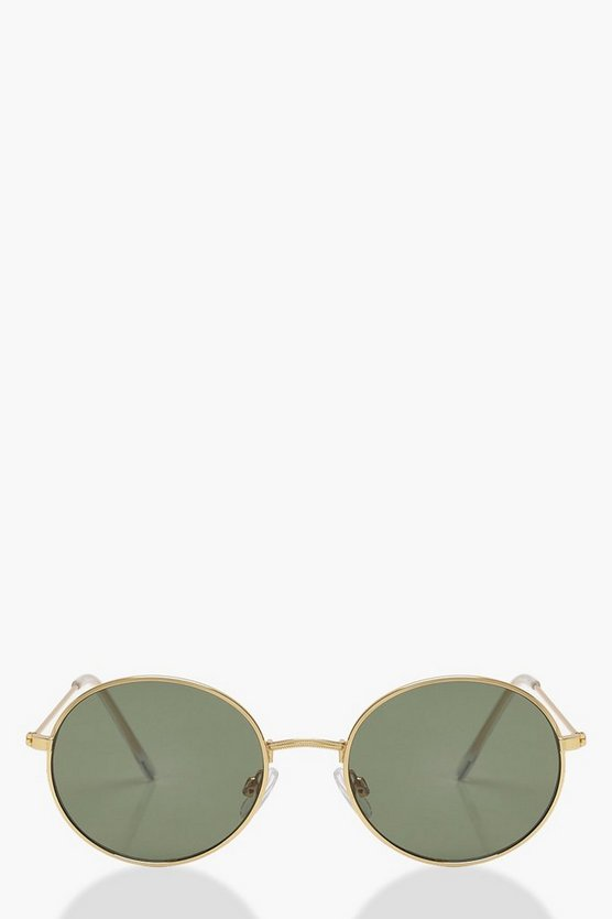 Julia Round Gold Frame Sunglasses