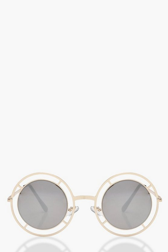 Cut Out Frame Round Sunglasses