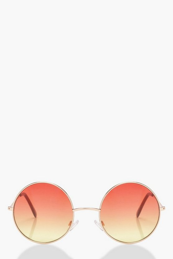 Erin Ombre Coloured Lens Round Sunglasses