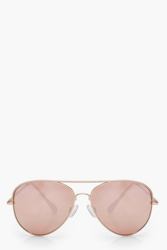 Mia Rose Gold Lens Aviator Sunglasses