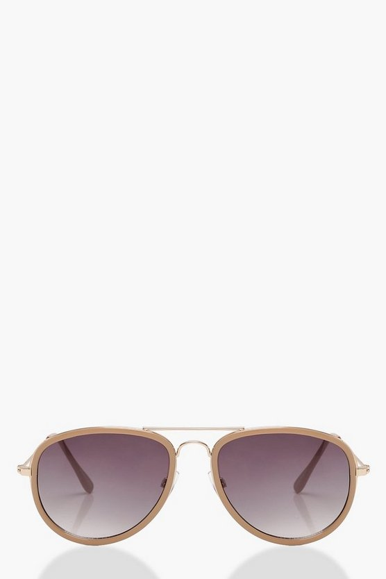 Nude Frame Aviator Sunglasses