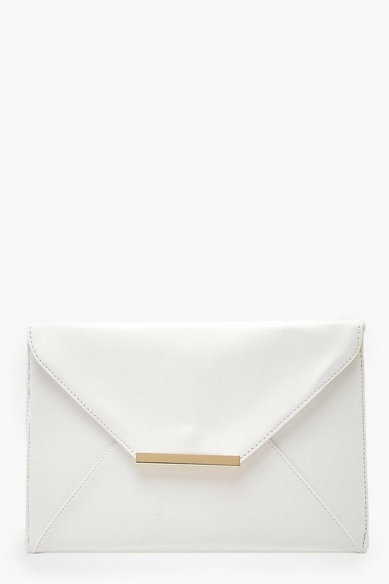 Tia Stitch Detail Clutch