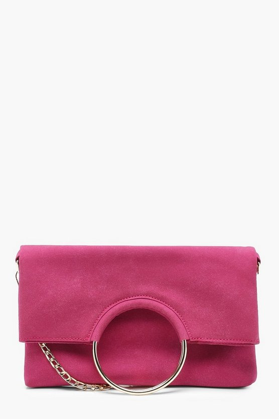 Tammi Foldover Ring Clutch With Chain