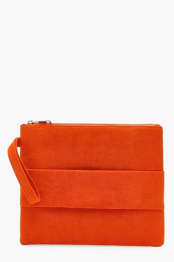 Hand Strap Large Ziptop Clutch