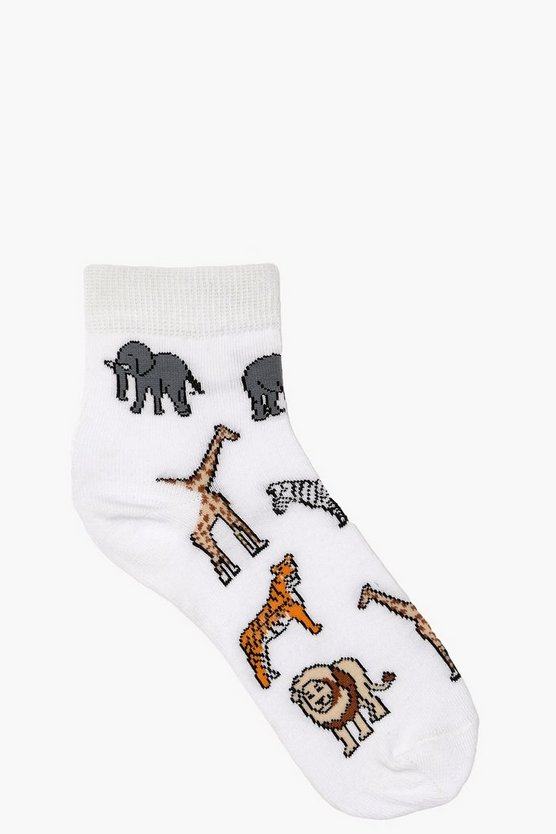 Rowena Safari Animal Ankle Socks