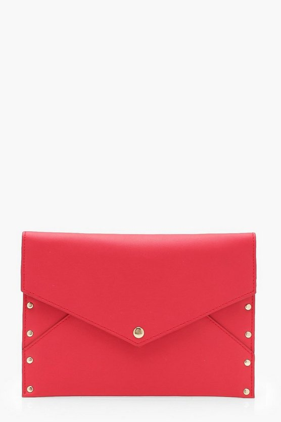 Popper & Stud Envelope Clutch