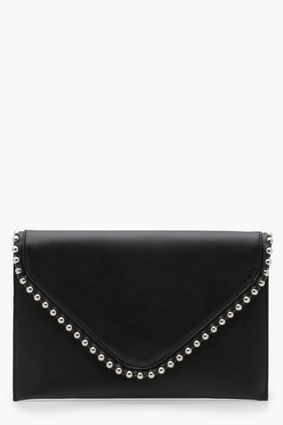 Metal Bobble Trim Clutch With Chain