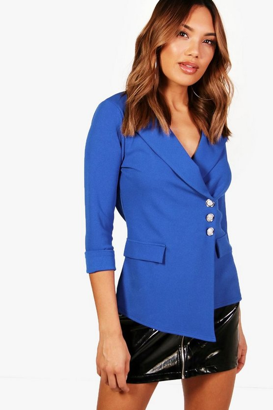 Button Detail Pocket Blazer