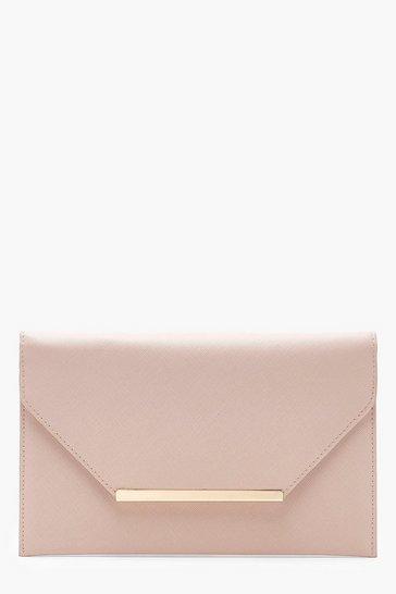Nude Crosshatch Clutch Bag