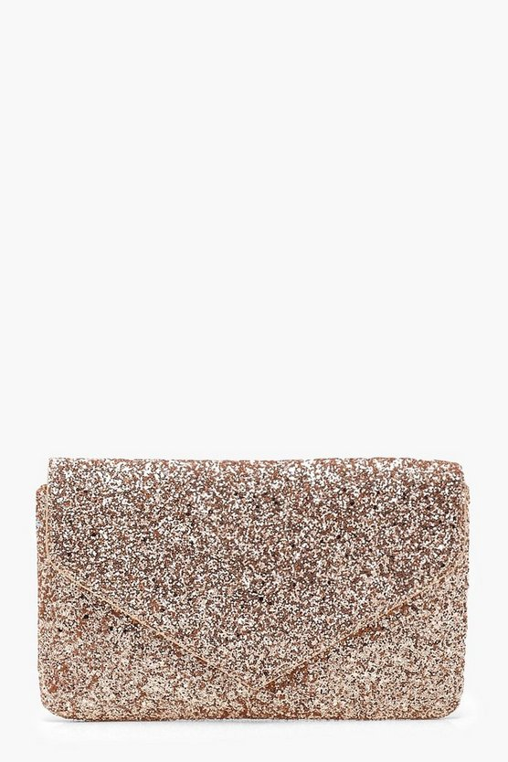 All Over Glitter Envelope Clutch