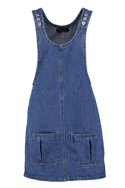 en frente oscuro con azul bolsillos denim Pichi al fwXdp0xq