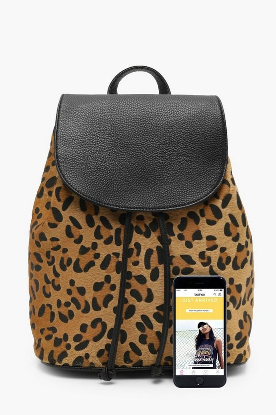All Over Leopard Rucksack