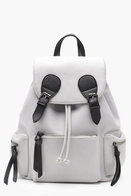 Buckle And Pocket Rucksack