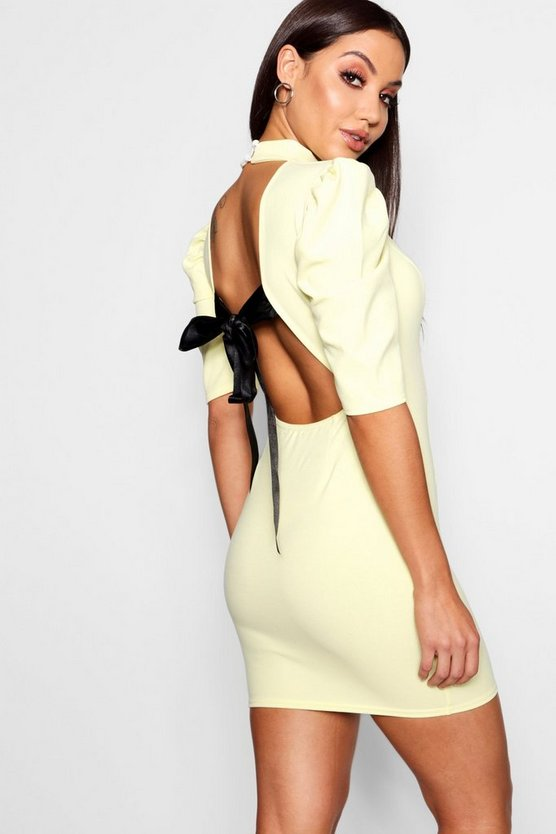 Boutique Open Back Bodycon Dress