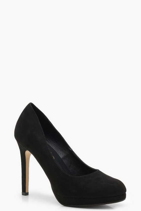 Platform Round Toe Court Shoes