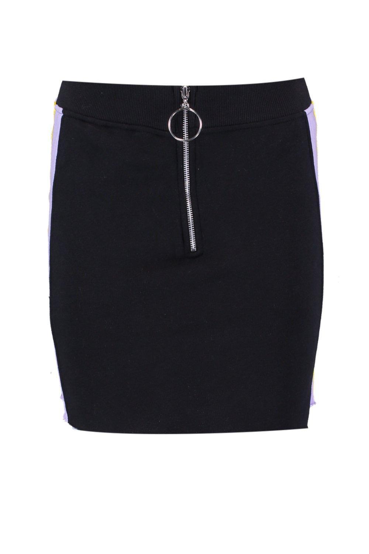 Boohoo-Minifalda-deportiva-con-cremallera-en-contraste-Neve-para-Mujer