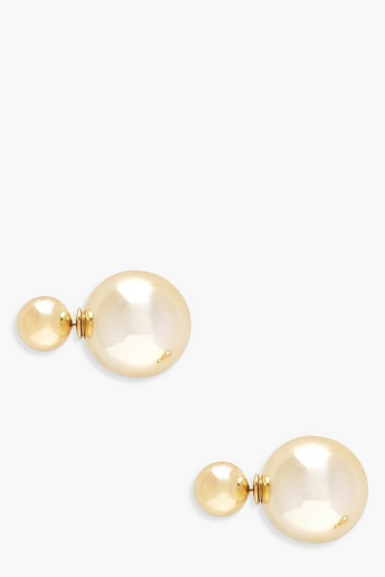 Georgie Double Ball Stud Earrings