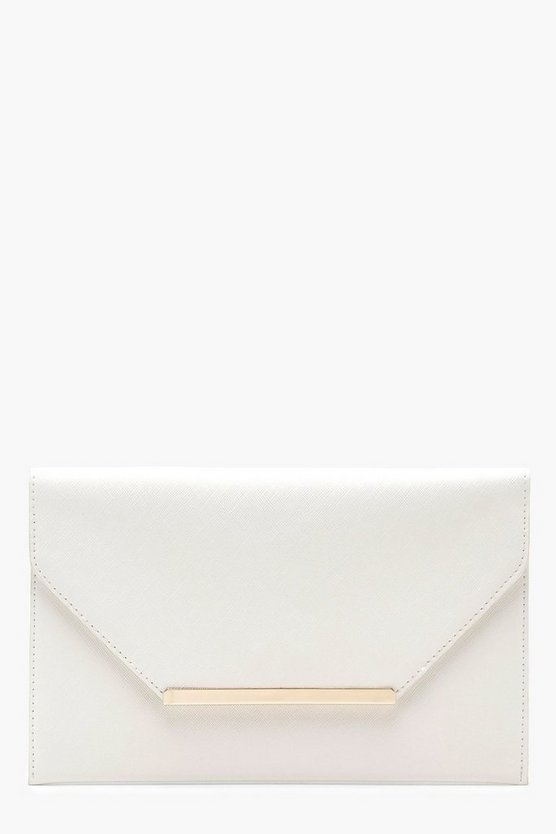Pastel Crosshatch & Bar Envelope Clutch