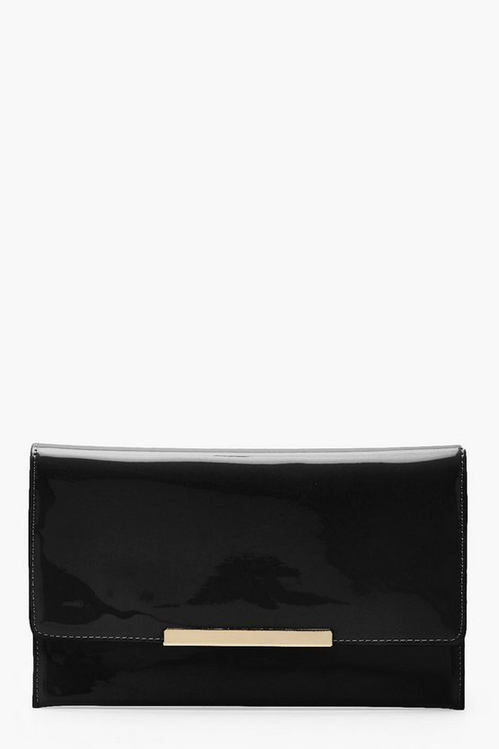 Maisie Patent Bar Envelope Clutch