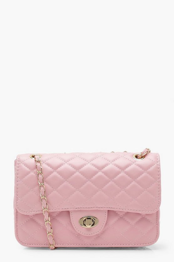Square Quilted Cross Body Square Quilted Cross Body by Boohoo