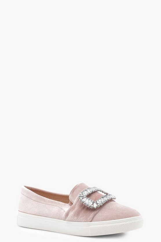 Lacey Jewel Buckle Trim Skater
