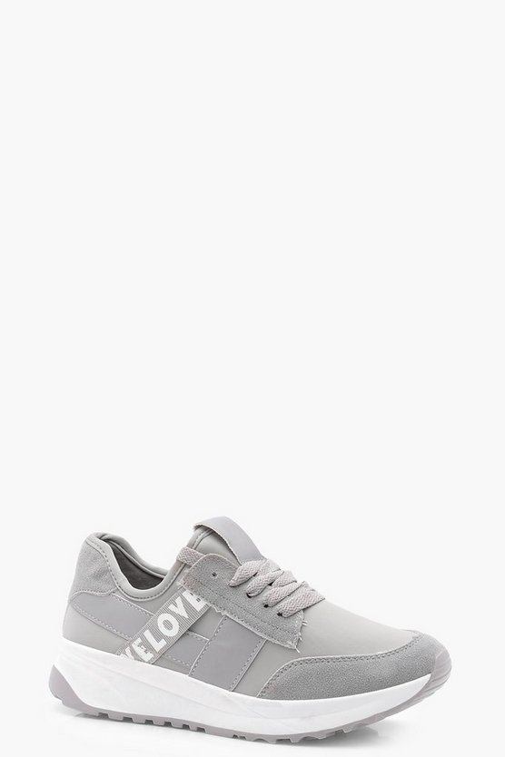 Womens Slogan Sports Trainers