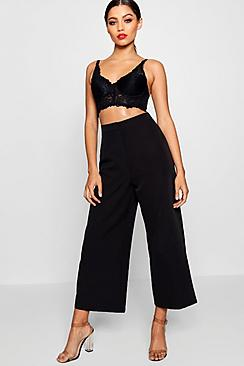 Woven Tailored Suit Culottes