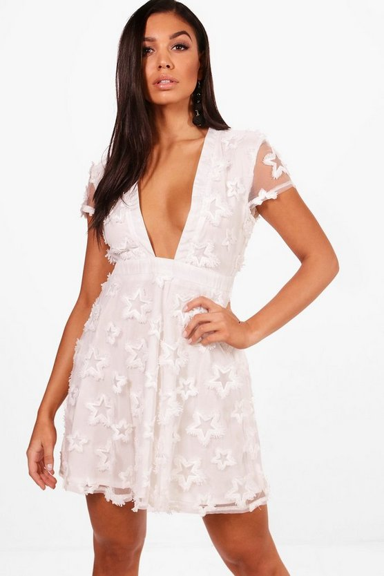 Star Organsa Full Midi Dress