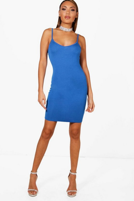Basic Strappy Cami Bodycon Dress