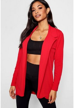 Red Crepe Blazer