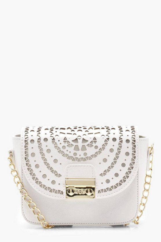 Kirsten Lazer Cut Out Cross Body Bag