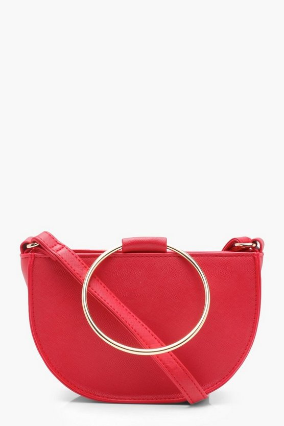 Metal Ring Semi Saddle Bag