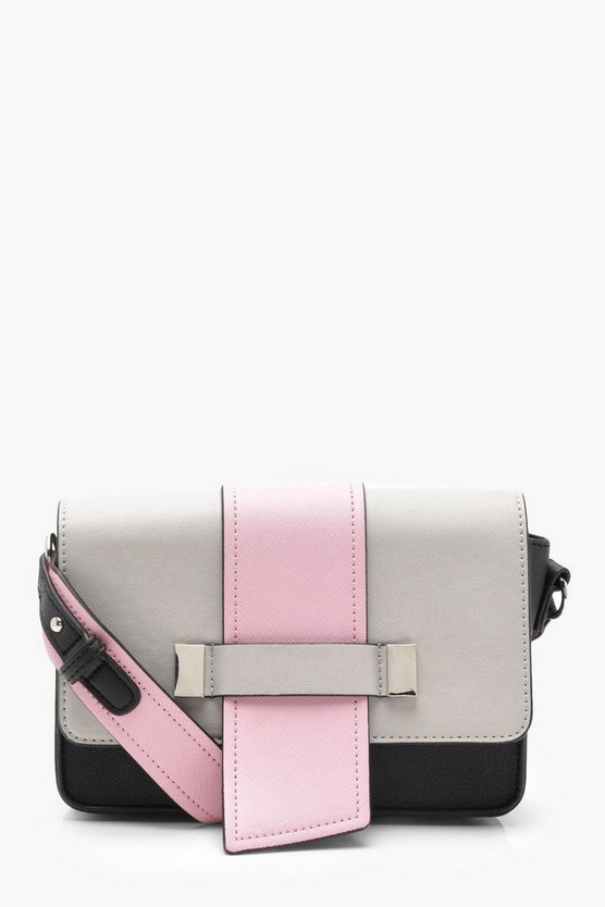 Colour Block Structured Cross Body