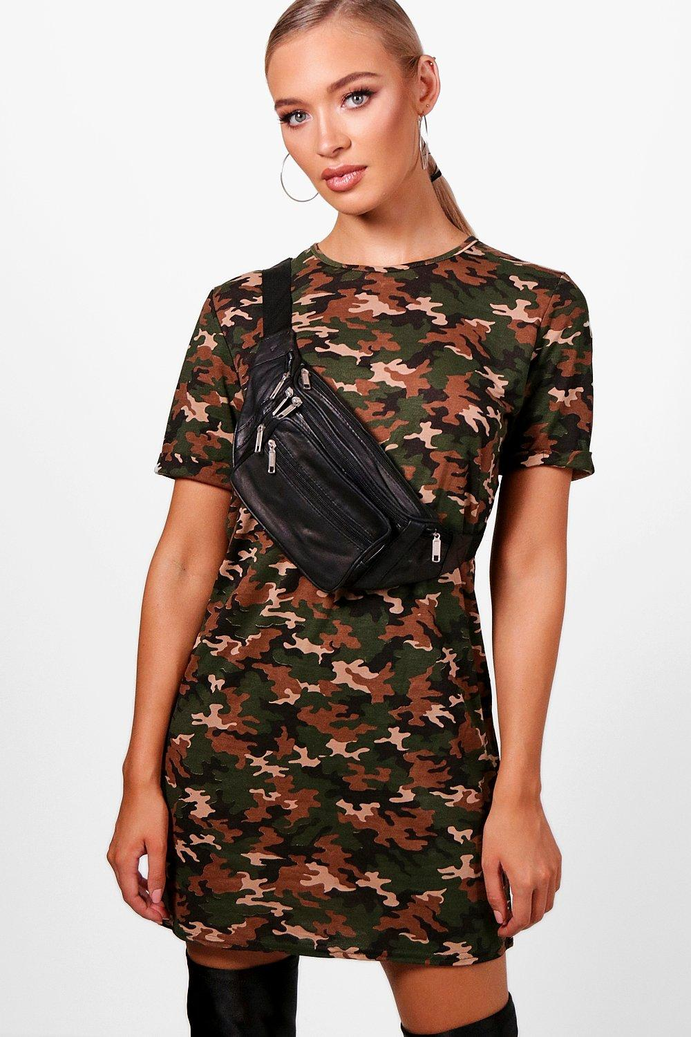 3bbdd8aaa32 Camo Oversized T-Shirt Dress. Hover to zoom