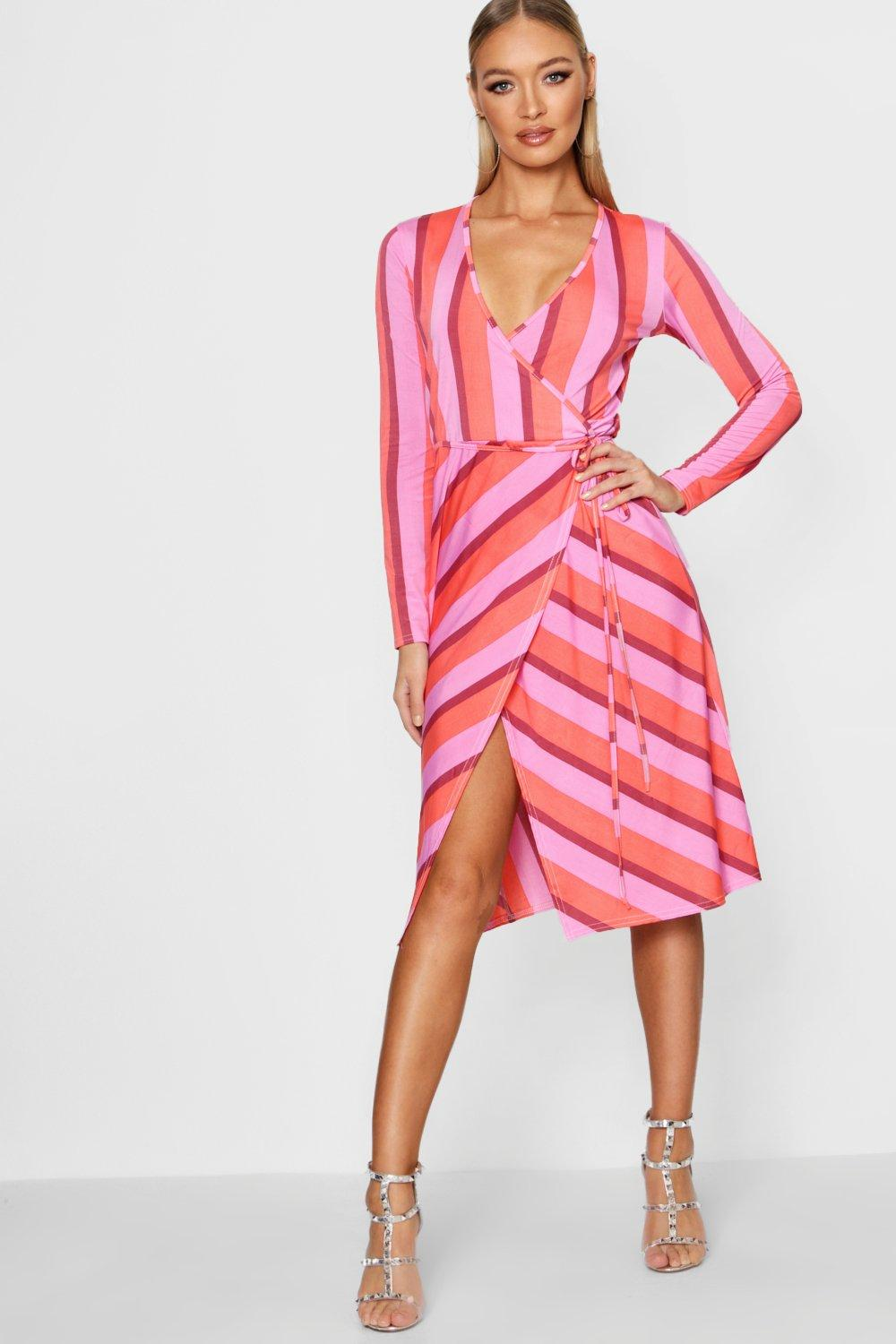 0487000d693 ... Striped Midi Dress. Hover to zoom