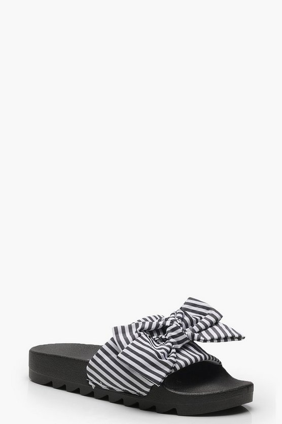 Striped & Bow Detail Sliders