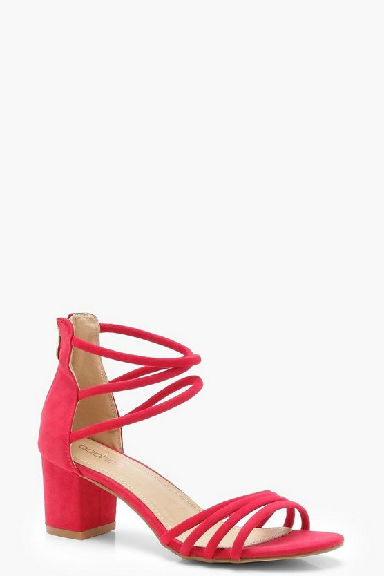 Strappy Low Block Heels