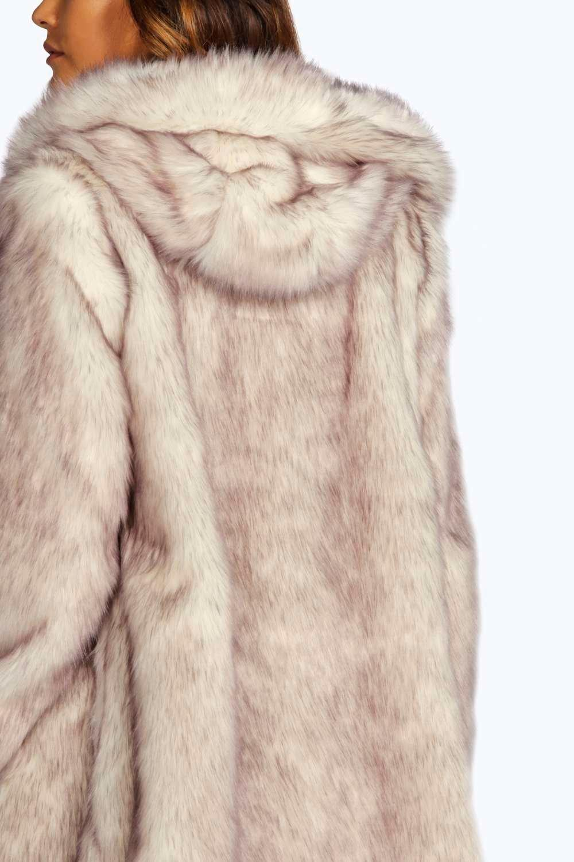 de piel sintética de boutique capucha con Lois Abrigo crema 1WYtn