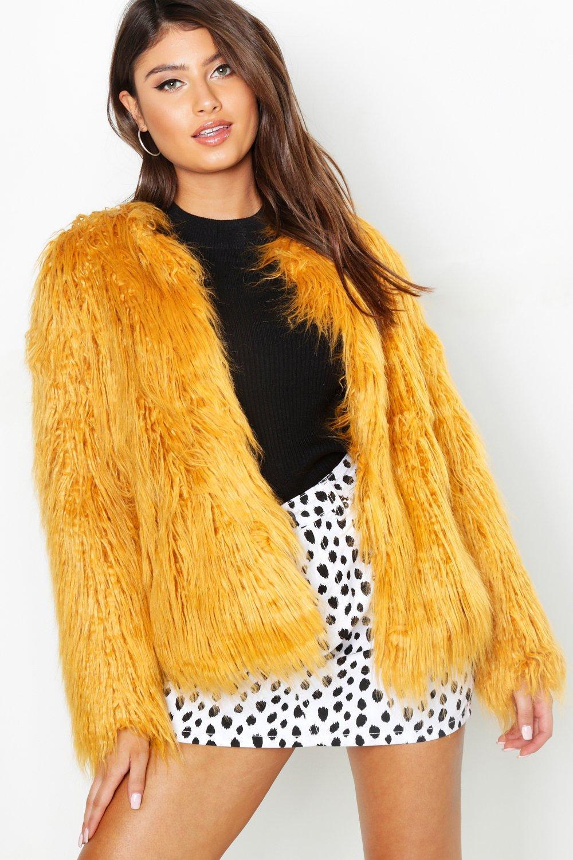 sintetica pelliccia Anna Mongolia stile cappotto in t1EEq