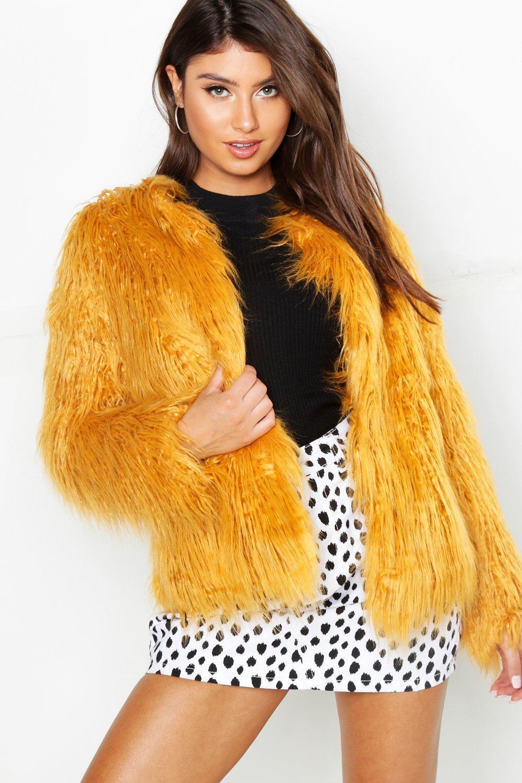 pelliccia Mongolia Anna sintetica stile in cappotto EffqnU4