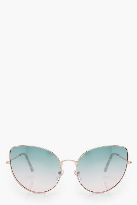 Faded Lens Cat Eye Sunglasses