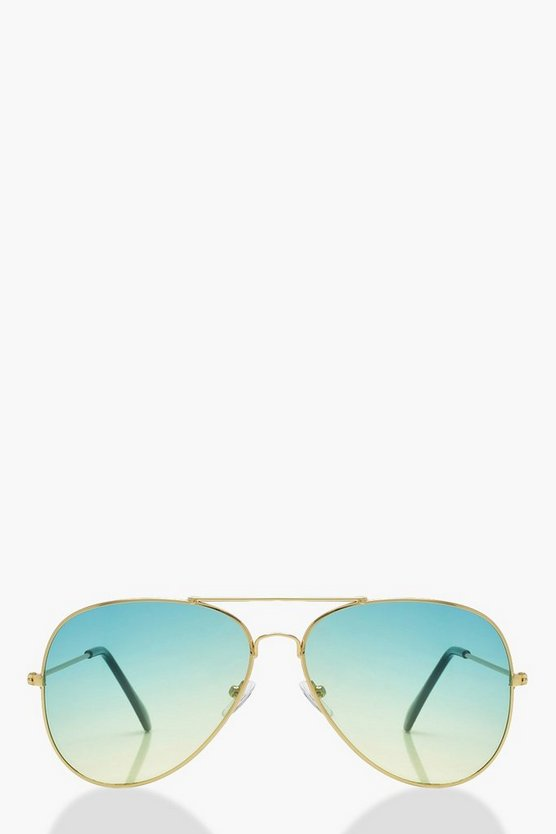 Ivy Gold Gradient Lens Aviators