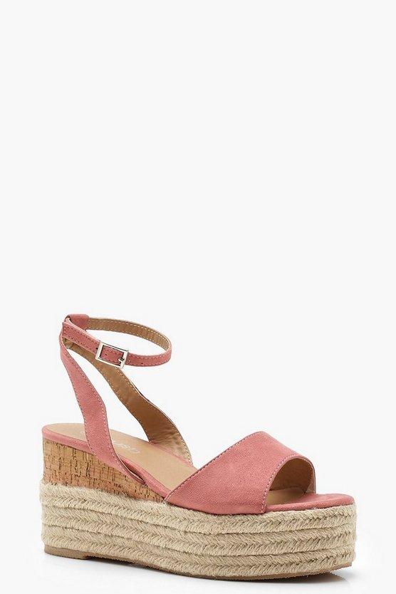 Ankle Band Espadrille Flatforms