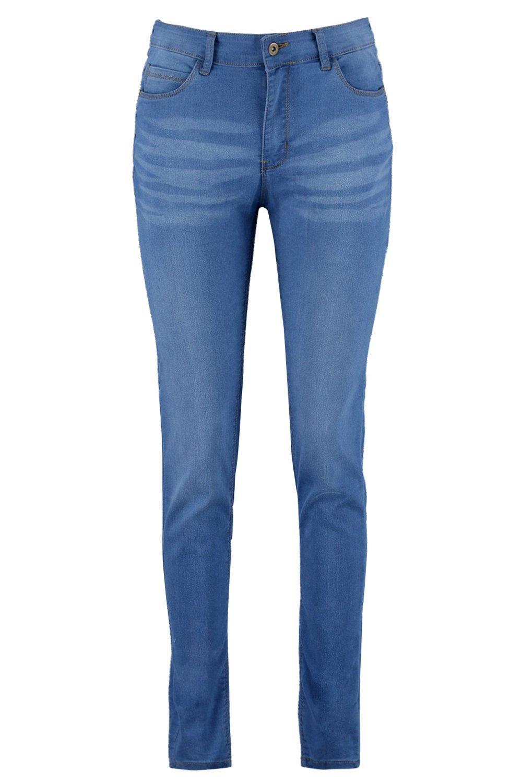 bolsillos talle Jeans de skinny alto con medio azul 5 q4Y74wE