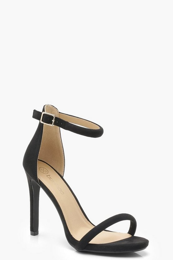 Wide Fit Suedette 2 Part Heels