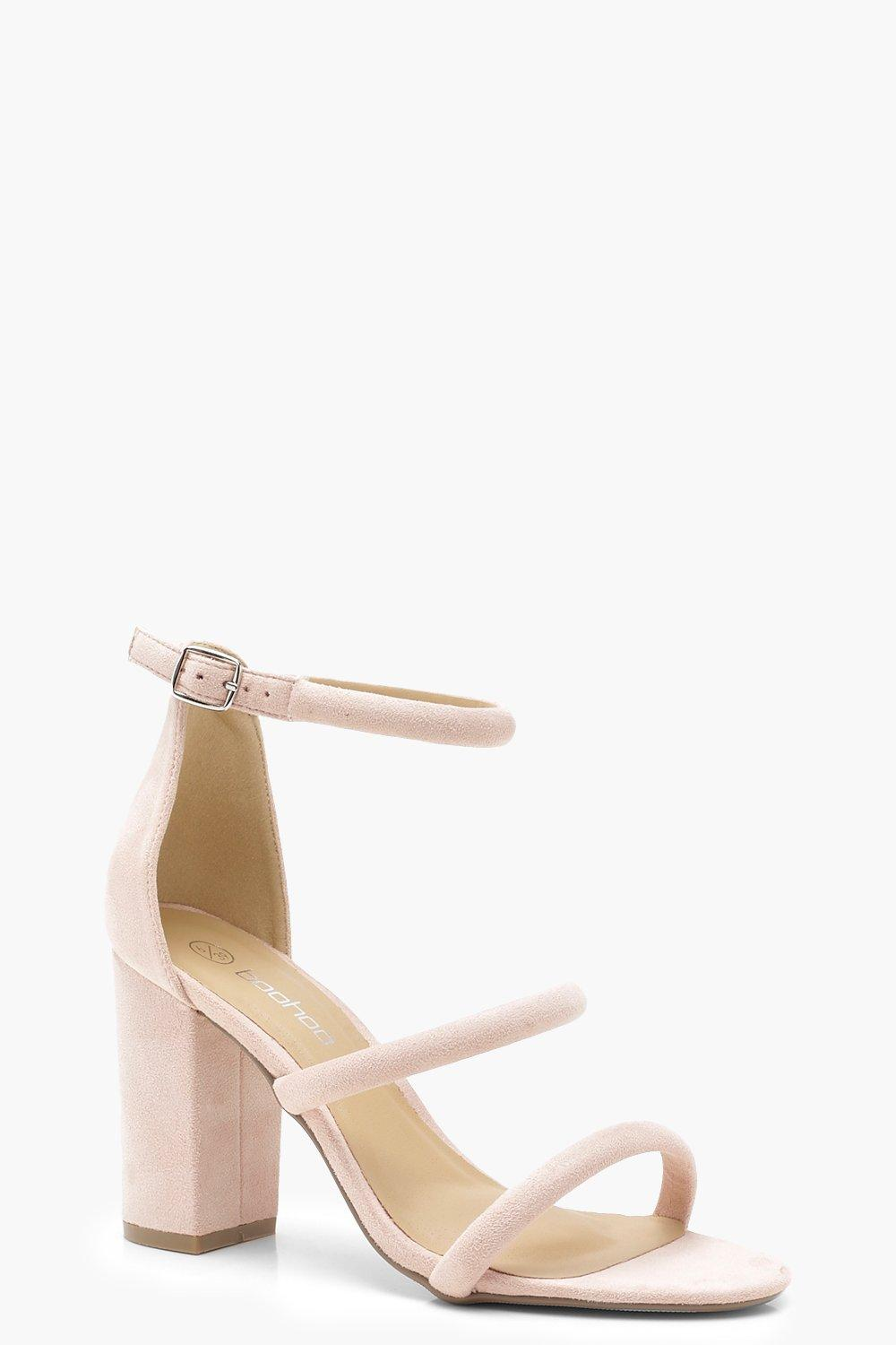 8ad67616c00 Triple Strap Block Heels. Hover to zoom