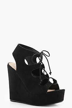 Extreme Lace Up Wedges