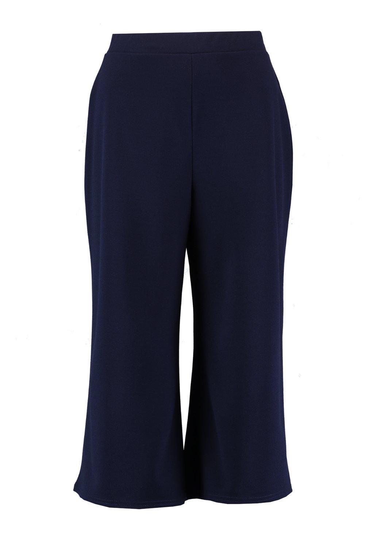 Azul marino de Falda ancha pantalón pierna 1qxYIIX0